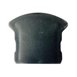 Black plastic end cap