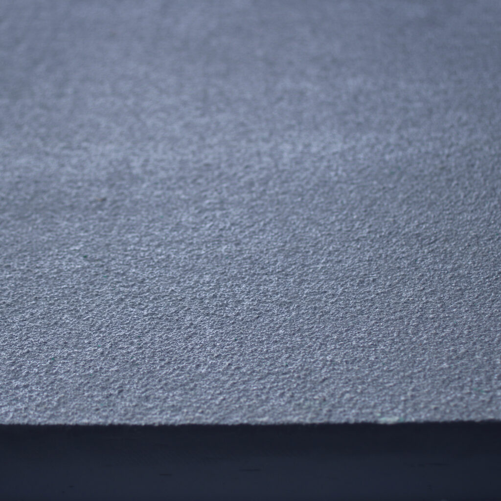 Close up of solid top in grey